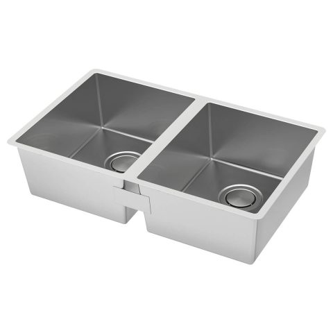 double bowl top mount sink